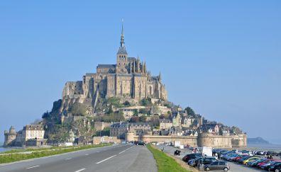 Mont Saint-Michel, castle, architecture
