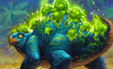 Green blue Dinosaur, Hearthstone: Heroes of Warcraft, game