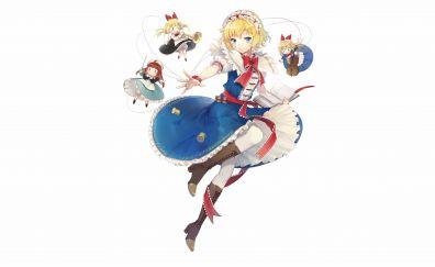 Alice Margatroid, Touhou, Shanghai doll, anime girl