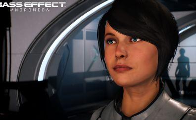Sara Ryder, Mass Effect: Andromeda, face, video game