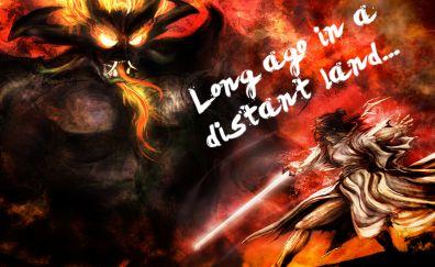 Samurai Jack, TV show, monster, warrior, art