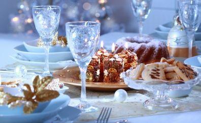 Christmas, foods, cake, cookies