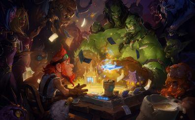 Hearthstone: heroes of warcraft, video game, play, 4k