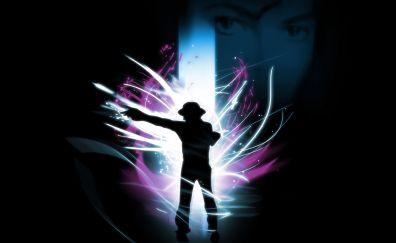 Michael Jackson, dance, dark, art
