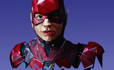 The flash, low poly, art
