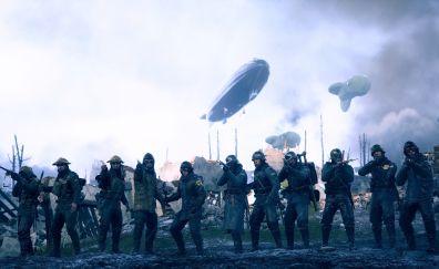 Battlefield 1, video game, soldiers, 5k