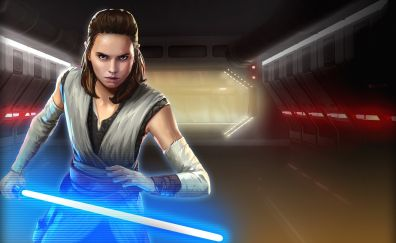 Rey, Star Wars: Galaxy of Heroes, mobile game