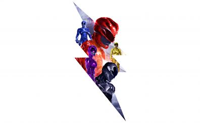Power Rangers, 2017 movie, poster, art