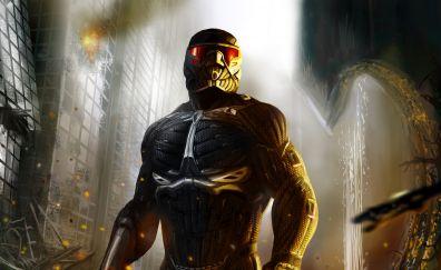 Crysis 2, soldier, video game, nanosuit, 5k