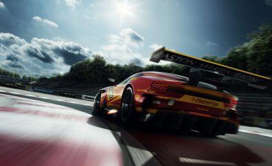 Aston Martin Vulcan, sports car, rear view