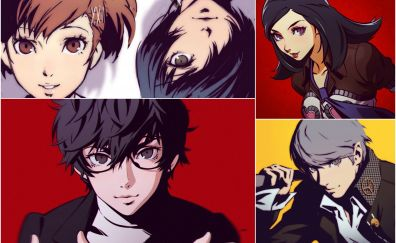 Persona 5, anime, video game, 4k