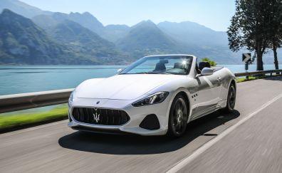 Maserati GranTurismo, onroad, white car