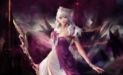 Cabal ii, girl warrior, video game, art