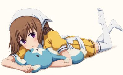 Lying down, Mafuyu Hoshikawa, Blend S, 4k