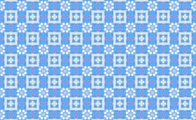 Abstract, pattern, floral design, squares