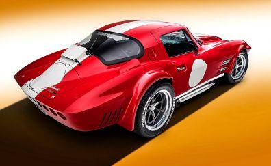 Muscle car, corvette, rear