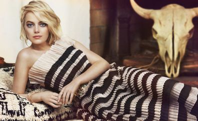 Emma stone, famous celebrity, lying down