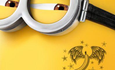 Despicable Me 3, animated movie, minion, face, tattoo