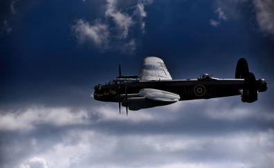 Lancaster bomber, fighter airplane, 5k