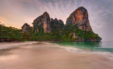 Beach, tropical, cliff, nature