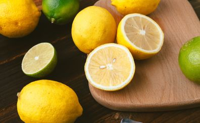 Fruits, citrus, lemon, kitchen, slices