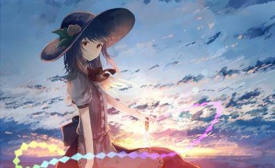 Touhou, Tenshi Hinanawi, cute anime girl