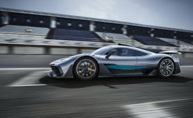 Mercedes-AMG Project One, 4k, sports car, motion blur
