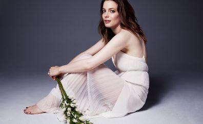 Gillian Jacobs, actress, sitting, celebrity