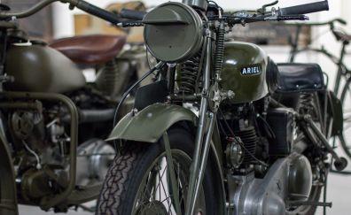 Vintage, retro, classic motorcycle, 4k