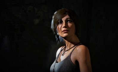 Rise of the Tomb Raider, 2015 game, Lara Croft, looking up