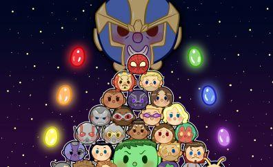 Avengers: infinity war, movie, fan art, superhero, thanos, villain, artwork