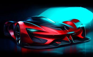 Dodge SRT Tomahawk, sports car, artwork