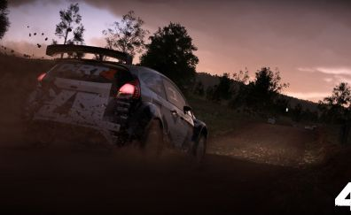 Night, video game, race, Dirt 4