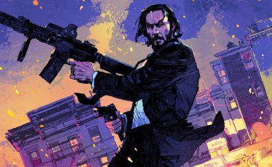 John Wick: chapter 2, art, movie