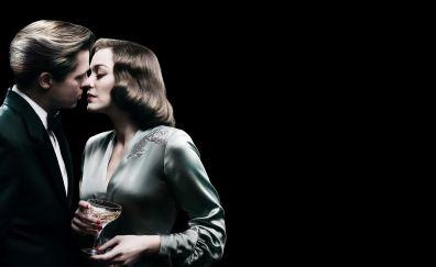 Marion Cotillard and Brad Pitt of Allied Movie 2016