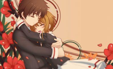 Syaoran Li, Sakura Kinomoto, Cardcaptor Sakura, anime, couple
