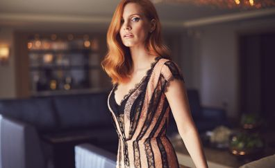 Jessica Chastain, red head, celebrity 2017