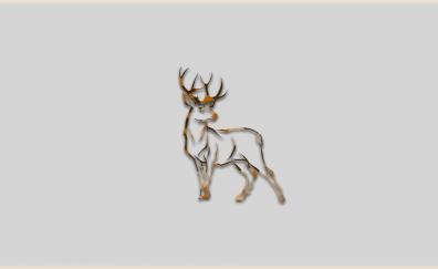 Minimal Deer animal artwork