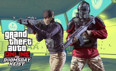 Grand theft auto online the doomsday heist, video game, 4k