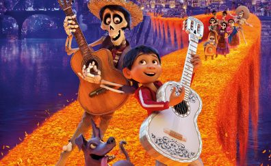 Coco, animated movie, ghost dance, 5k, 2017
