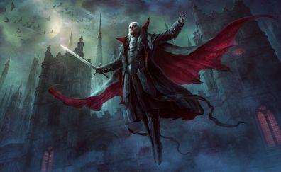 Castle, vampire, fantasy, fly