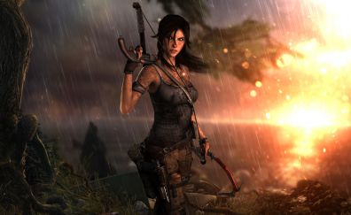 Tomb raider, video game, archer, lara croft, 10k