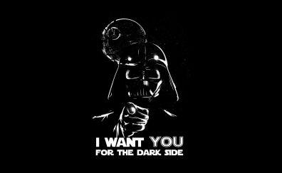 Dark side, darth vader, death star minimal