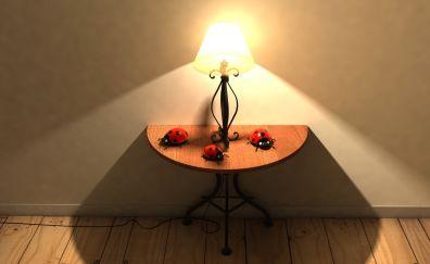 Table lamp, lights