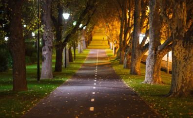 Melbourne, city garden, road, track