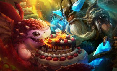 Dragon a skaarf, viking a reim, vainglory, game, 4k