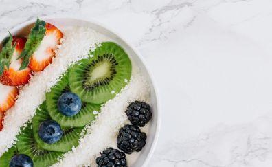 Fruits dish, food