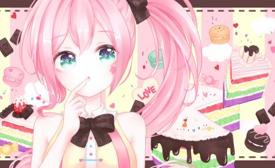 Uni, vocaloid, anime girl