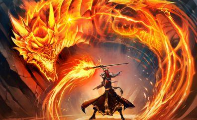 Hearthstone, Hearthstone: Heroes of Warcraft online game, warrior, dragon