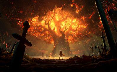 World Of Warcraft: Battle For Azeroth, teldrassil burns, 10k